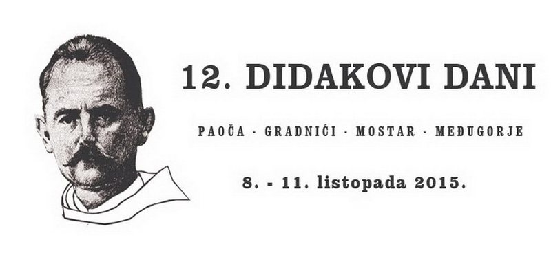 12. Didakovi dani od 8. do 11. listopada