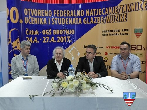 Tiskovna konferencija u povodu 20. Otvorenog natjecanja učenika i studenata glazbe- Čitluk 2017.