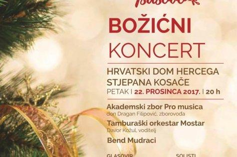 Tradicionalni božićni koncert Akademskog zbora Pro musica i Tamburaškog orkestra Mostar