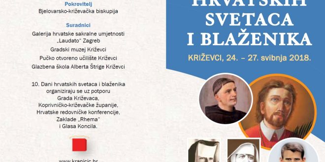 10. Dani hrvatskih svetaca i blaženika