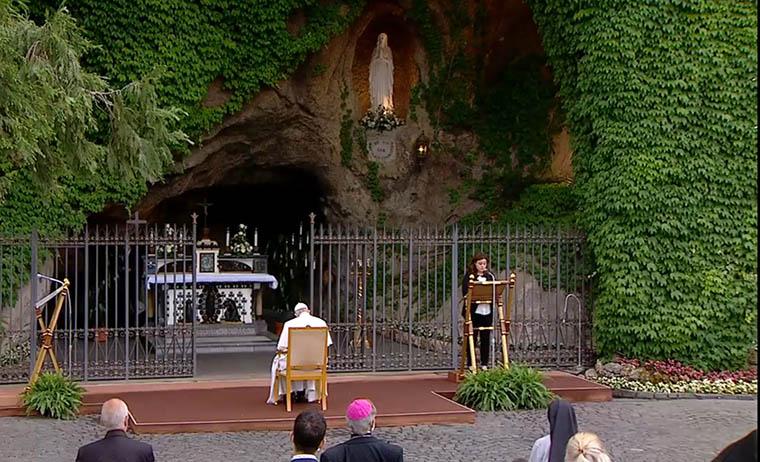 I Međugorje ujedinjeno u molitvi krunice s papom Franjom